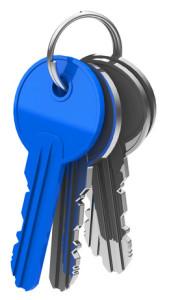 Schlüsselbund vom Schlüsseldienst
